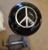 Silver Peace Sign Shift Knob