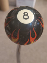 Flaming 8 Ball on fire Shift Knob