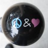 PEACE & LOVE VW Hippie  Shift Knob