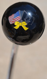POW/MIA Yellow Ribbon Flag Shift Knob