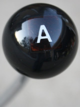 "Hot Rod ""A""  or  ""T"" Scrabble Letter Shift Knob"