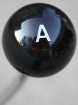 "Hot Rod ""A""  or  ""T"" Scrabble Letter Shift Knob"