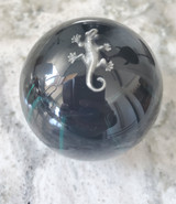 Green & Black Splash Lizard Gecko Shift Knob