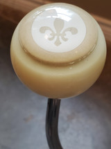 Vintage POKER CHIP Fleur De Lis Shift Knob