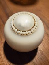 Gorgeous Vintage White Bead Shift Knob