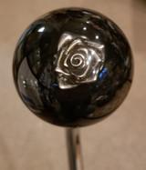 Floral 3D Pewter Rose Flower Shift Knob