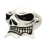 Cool White Evil McPhail Ghostly Skull