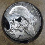 Motorcycle Rider Creed Challenge Coin Shift Knob
