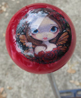 Red Pearl Fairy Girl Mystical Shift Knob