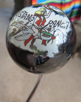 "Beautiful ""Mustang Ranch"" Nose Art Pin-Up Shift Knob"