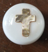 Christian Hammered Metal Cross Shift Knob