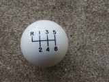 In-Stock 6RUL Shift Pattern White Shift Knob