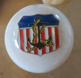 USA Patriotic Golden Anchor NAVY Shift Knob