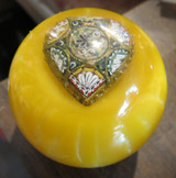 Italian MILLEFIORI Glass Heart Vintage Brooch Shift Knob