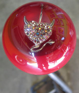 Red Devil Heart & Tail  with Rhinestones Shift Knob