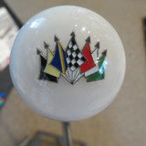 Auto Race Colorful Flags Shift Knob