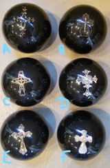 Religious Small Decorative Metal Cross Shift Knob - Various Styles