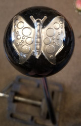 Giant Pewter Butterfly Pendant Shift Knob