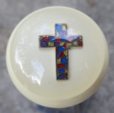 Mosaic Christian Cross Shift Knob