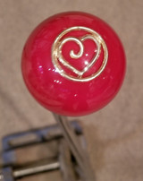 Golden Heart Red Shift Knob