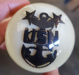 Larger US Navy Anchor Ivory Shift Knob