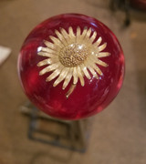 Red Pearl Flower Floral Shift Knob