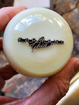"VW Karmann Ghia Logo 2 1/4"" Ivory Shift Knob"