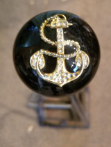 Large Black Rhinestone Navy Anchor Shift Knob