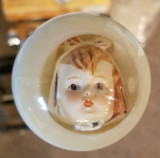 Cute Vintage China Doll Face Shift Knob