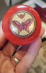 Colorful Tattoo Style Red Butterfly Shift Knob