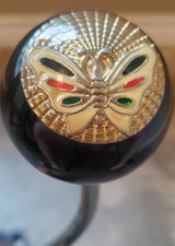 Vintage Large Colorful Golden Butterfly Button Shift Knob