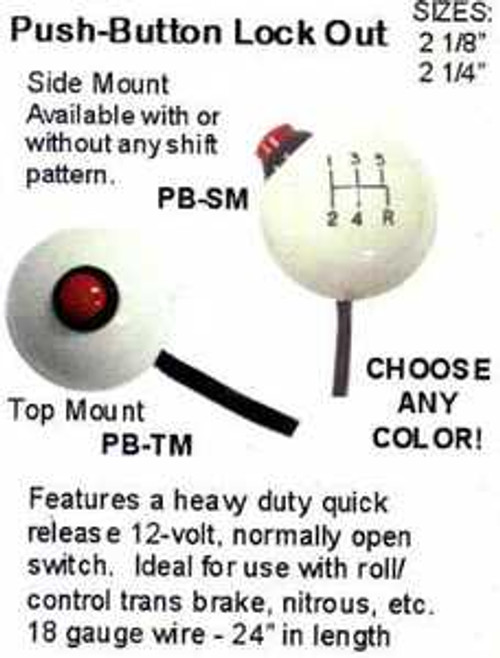 Dragster/Lock Out/Line Lock Shift Knobs