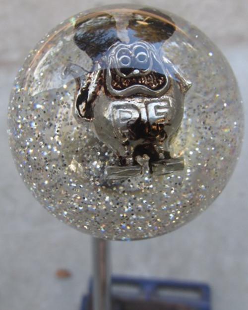 Pewter Clear Sparkle Ratfink Shift Knob