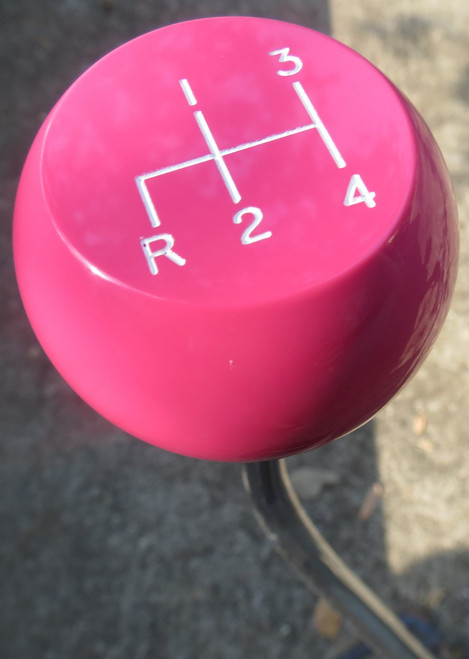 Concave Top Shown Here. Pink with White Ink 4RDL