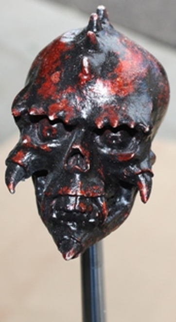 """Blood Stone"" Creepy Biker Skull"
