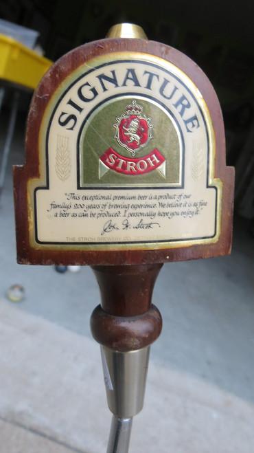 Vintage STROH Signature Beer Tap Shift Knob