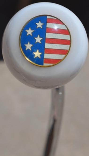 USA Round Flag Shift Knob