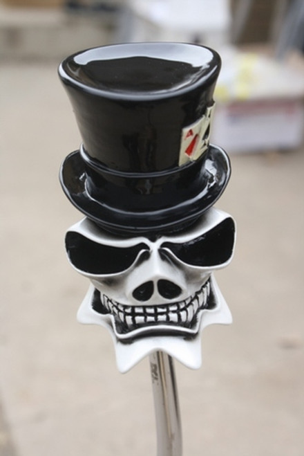 "McPhail ""Top Hat"" Gambling Ghost Skull Shift Knob"