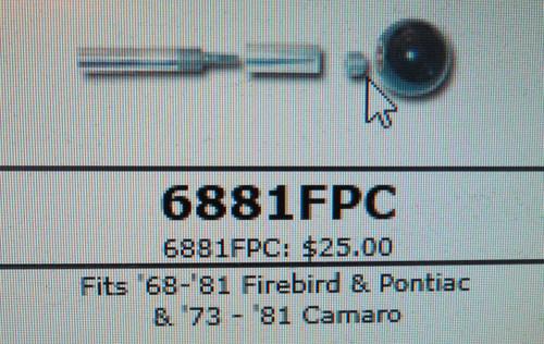 1966-1981 Firebird & Pontiac/1973-1981 Camaro Adapter Kit