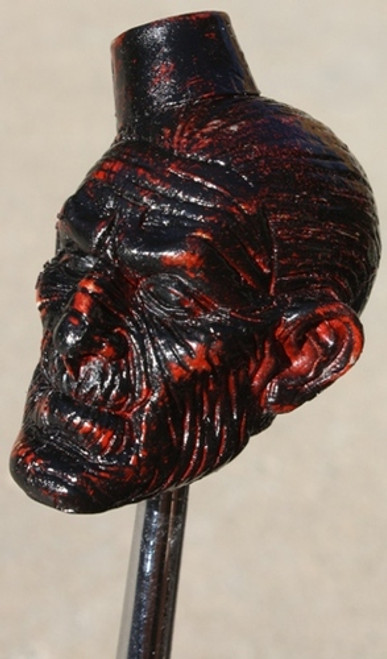 """Blood Stone"" Mummy with Fez Resin Shift Knob"