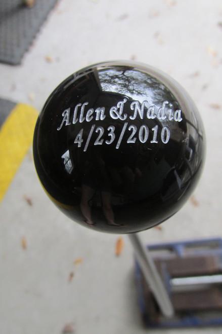 Custom Engraved on Solid Color Shift Knob