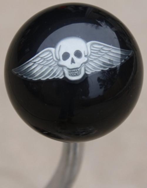 Pewter Winged Skull Shift Knob