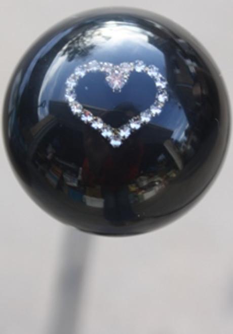 Rhinestone Heart Shift Knob