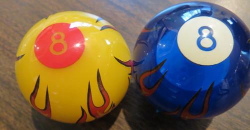 Flaming 8 Ball on fire Shift Knob