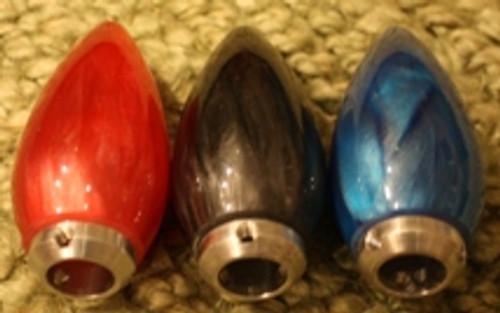 Teardrop Sparkle/Metal Flake Bullet Shift Knob