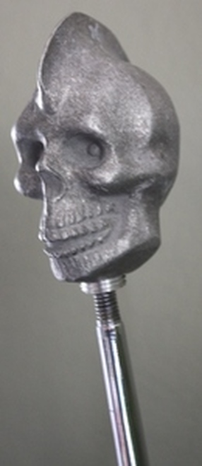 Ol' Skool Primal Cast Mohawk Skull Shift Knob