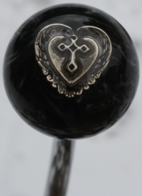 Pewter Heart and Cross Shift Knob