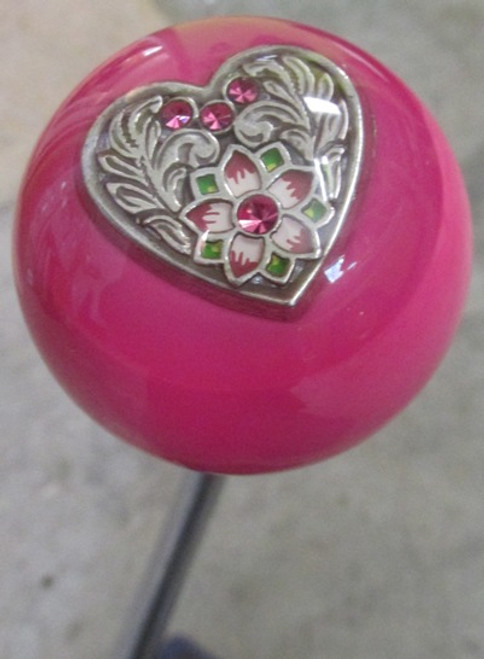 Western-Style Swarovski Crystal Heart Shift Knob
