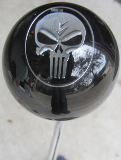 Chrome/Black USMC Punisher Skull Shift Knob