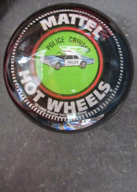 Vintage Mattel Hot Wheels Police Cruiser Shift Knob